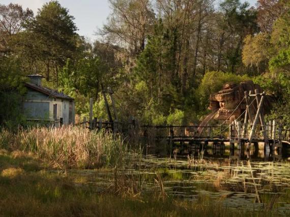 El complejo River Country abandonado.