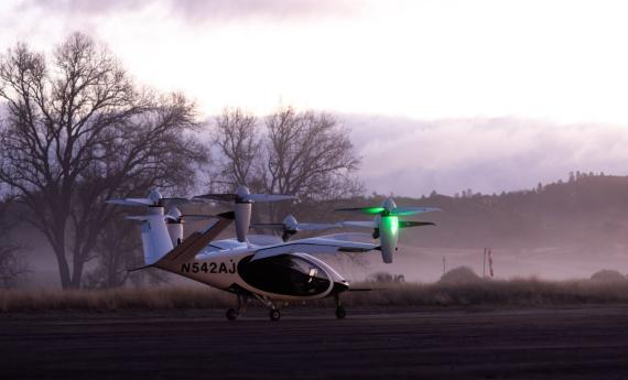 Taxi volador de Joby Aviation de con el que la NASA está realizando pruebas de vuelo. NASA
