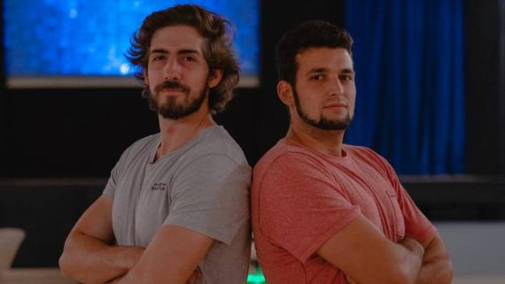 Los fundadores de Teaming Labs: Jordi Soley (izquierda) y Jordi Figols (derecha).