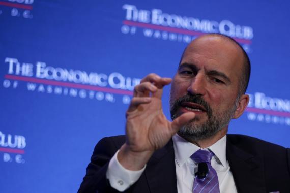 Dara Khosrowshahi, CEO de Uber, durante un evento en Washington.