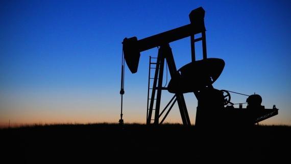 Un yacimiento petrolífero.
