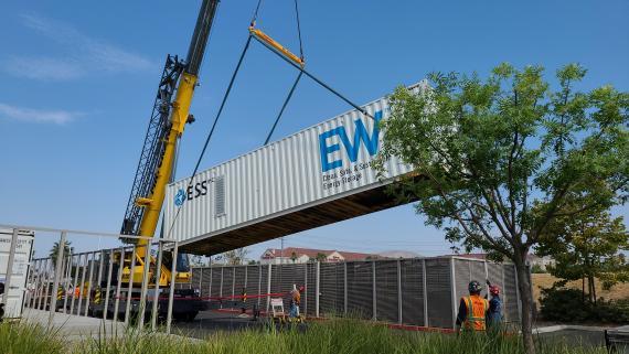 Batería transportable de la empresa ESS