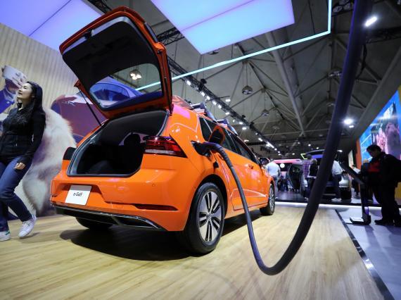 Un coche eléctrico de Volkswagen