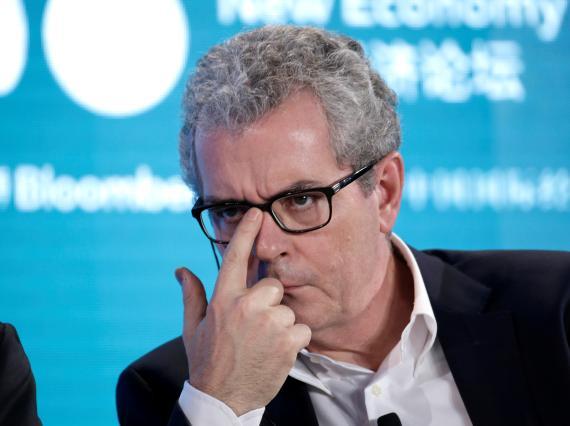 Pablo Isla, en el New Economy Forum, en Pekín, en noviembre de 2019