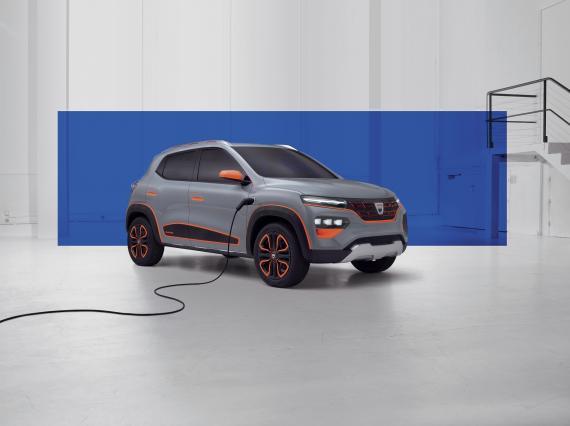 El Dacia Spring, vehículo eléctrico de bajo coste de Dacia.