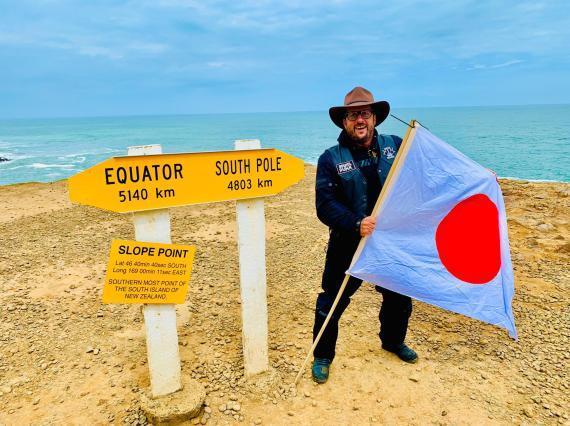 Josep Coll en su llegada a Nueva Zelanda