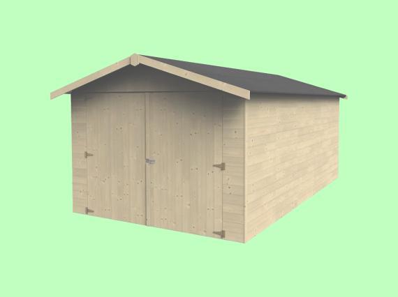 garaje madera Leroy Merlin