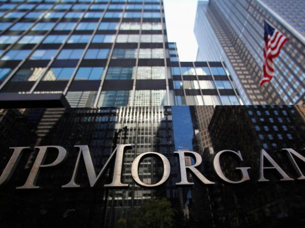 JP Morgan Chase & Co sign outside headquarters in New York Reuters