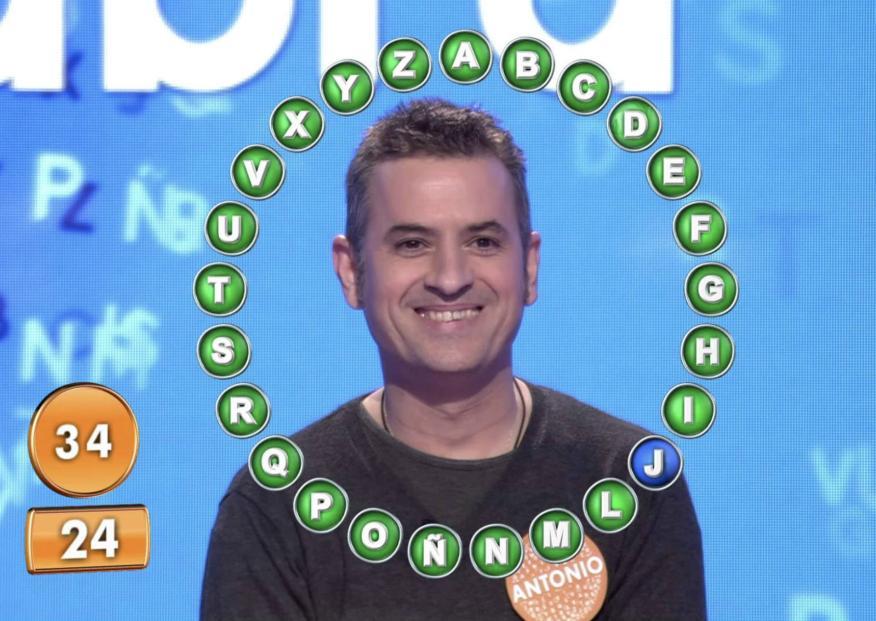 Antonio Ruiz, ganador del bote de 'Pasapalabra'.