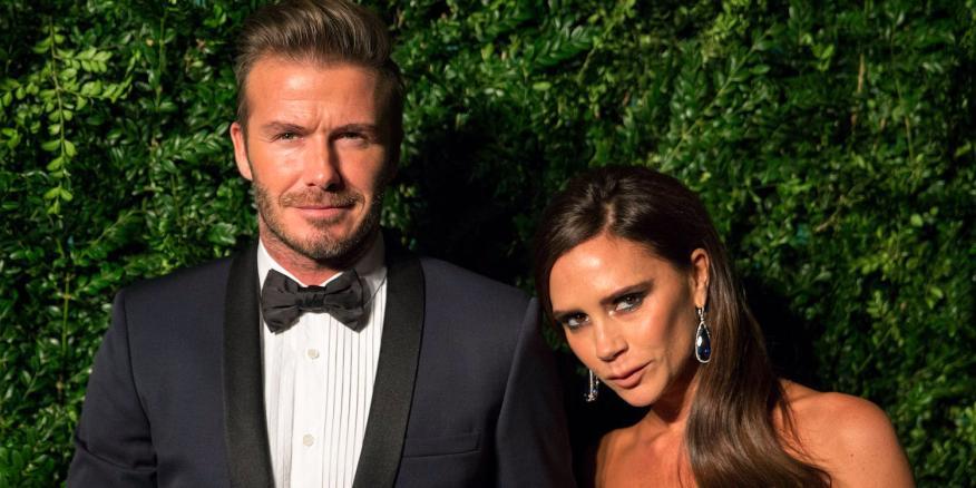 David y Victoria Beckham en una entrega de premios en Londres en noviembre de 2014.