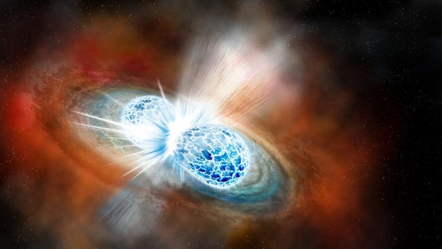 Ilustración de la colisión estelar que protagoniza la noticia científica del año para Science.