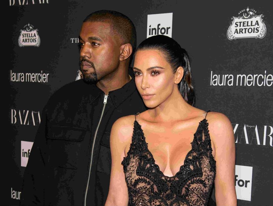 Kim Kardashian y Kanye West en una fiesta en Nueva York en septiembre de 2016.