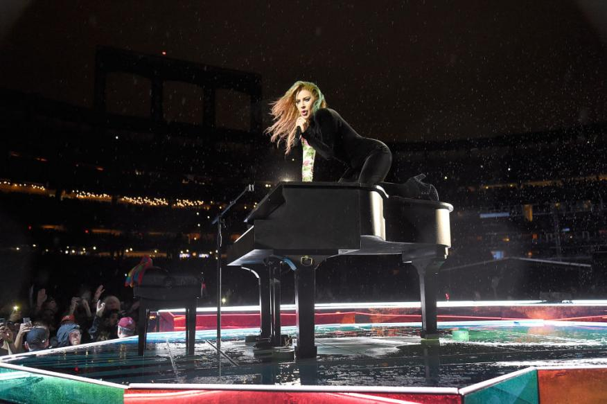 Lady Gaga durante un concierto en Nueva York
