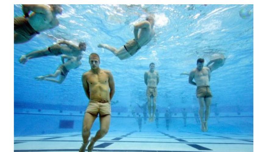 Miembros de los Navy SEALs de EEUU en uno de sus entrenamientos