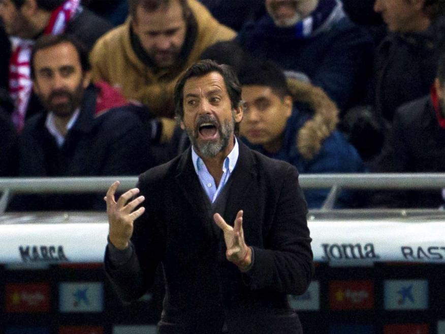 Sánchez Flores durante el partido del Espanyol contra el Sevilla FC