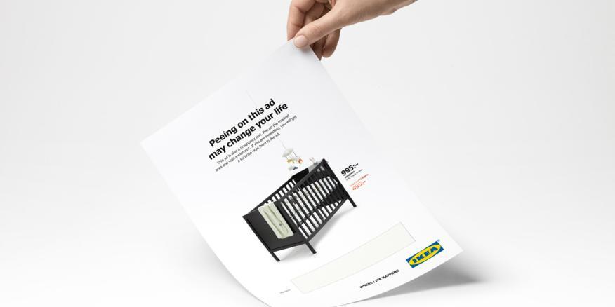 Anuncio de Ikea sobre el que hay que hacer pis.