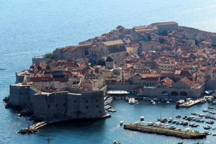 Una vista de Dubrovnik, Croacia.