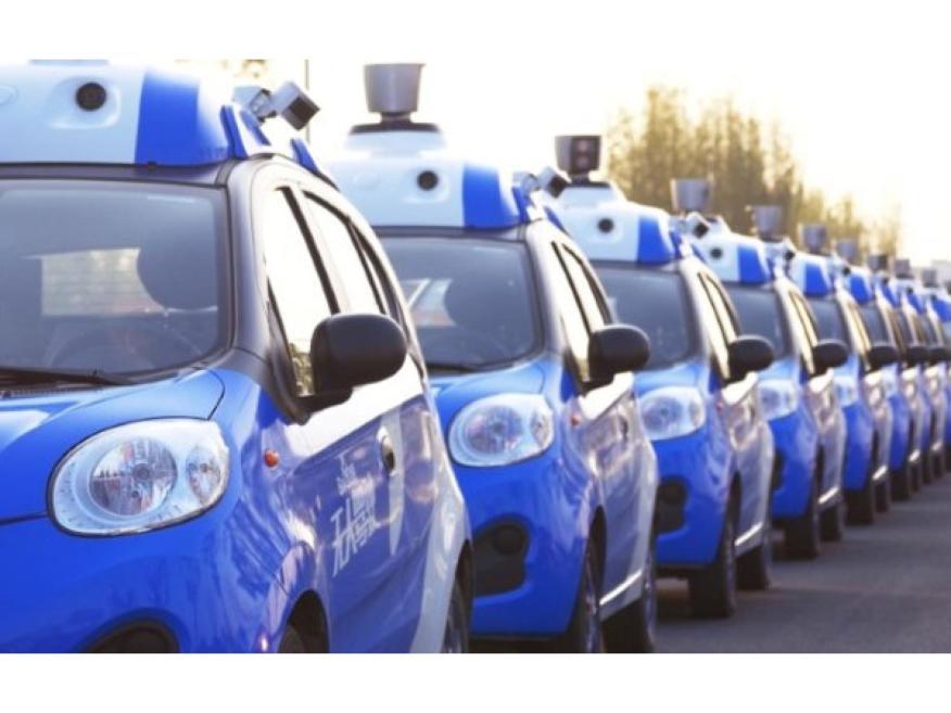 Coches autónomos de Baidu.