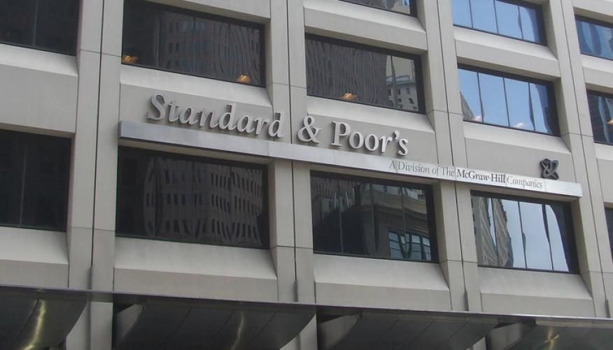 Imagen de la fachada de Standard & Poor's en Nueva York.