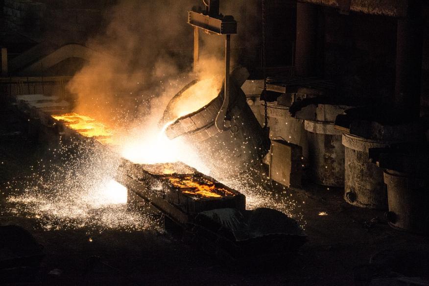 Una planta metalúrgica