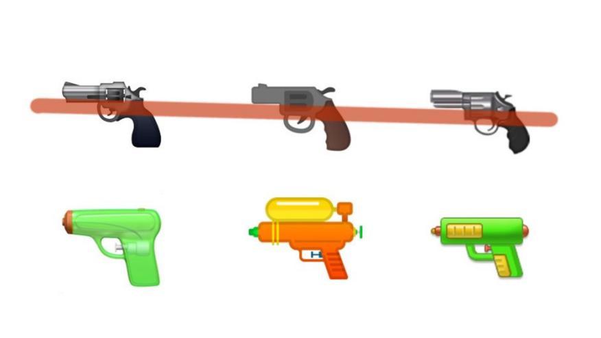 Emojis de pistolas de agua