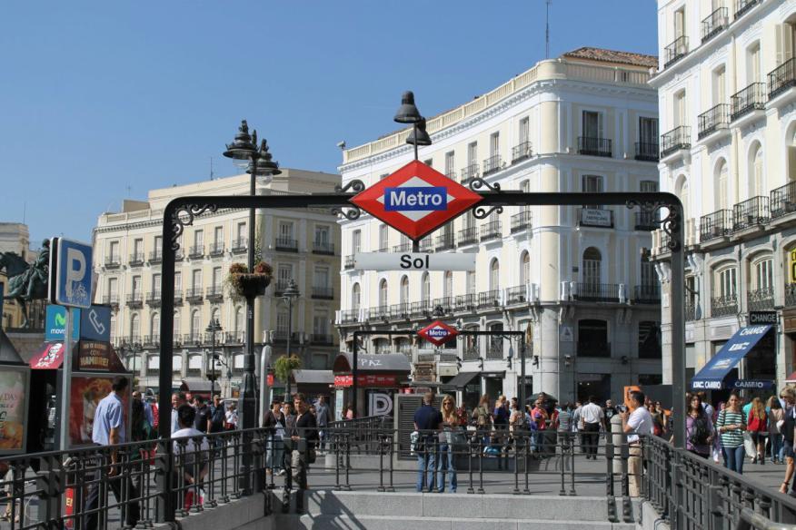 Una imagen de la plaza de Sol de Madrid.