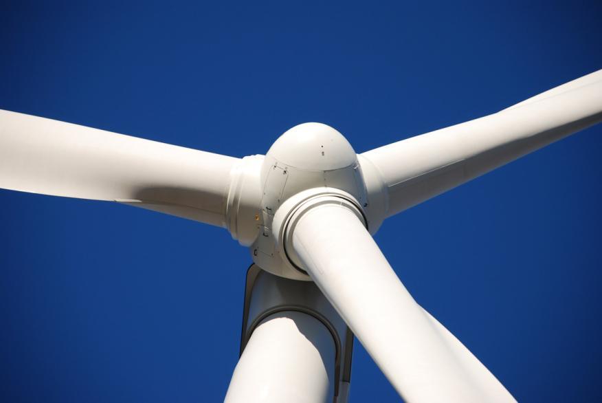 Molino de viento energía eólica