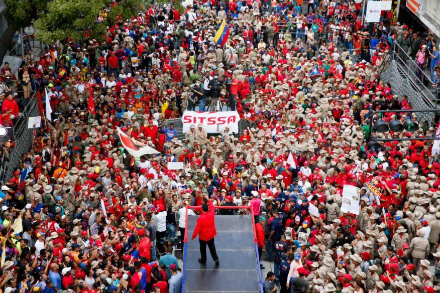 Nicolás Maduro en un acto en Caracas