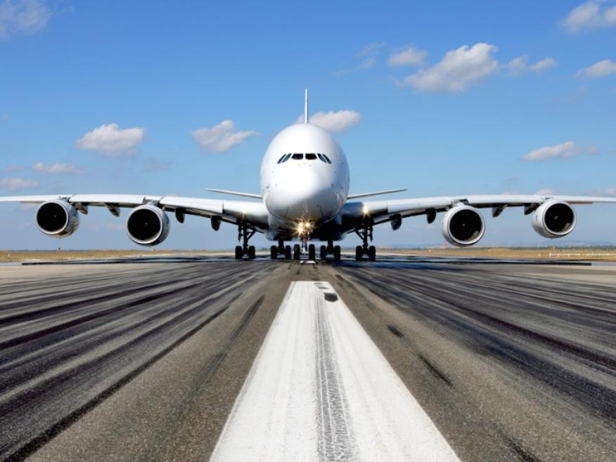 El Airbus A380 superjumbo.