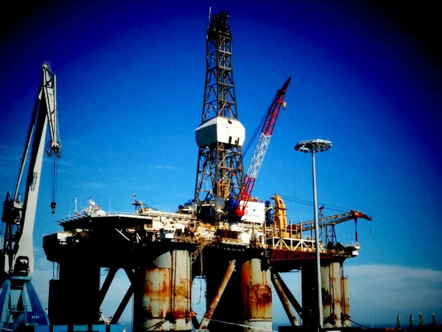 Una central petrolífera en Irán