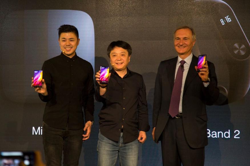 El vicepresidente de Xiaomi, Xiang Wang, en la presentación de la compañía en España.