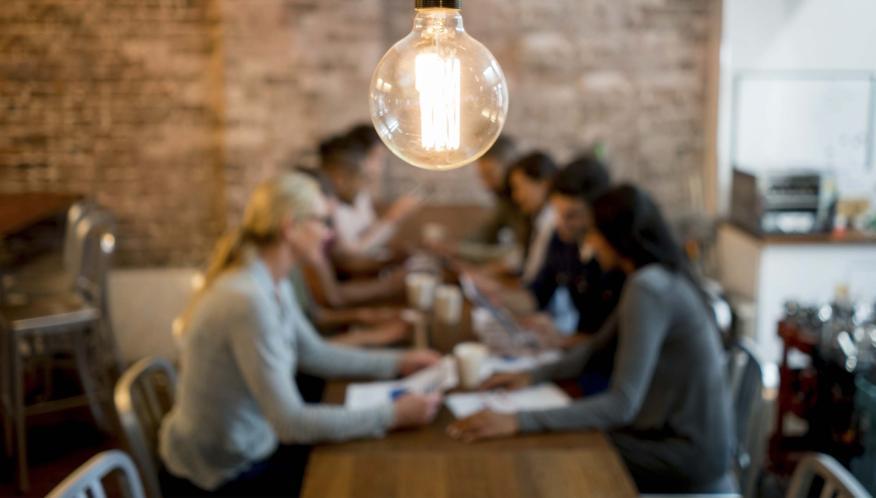 Emprendedores reunidos