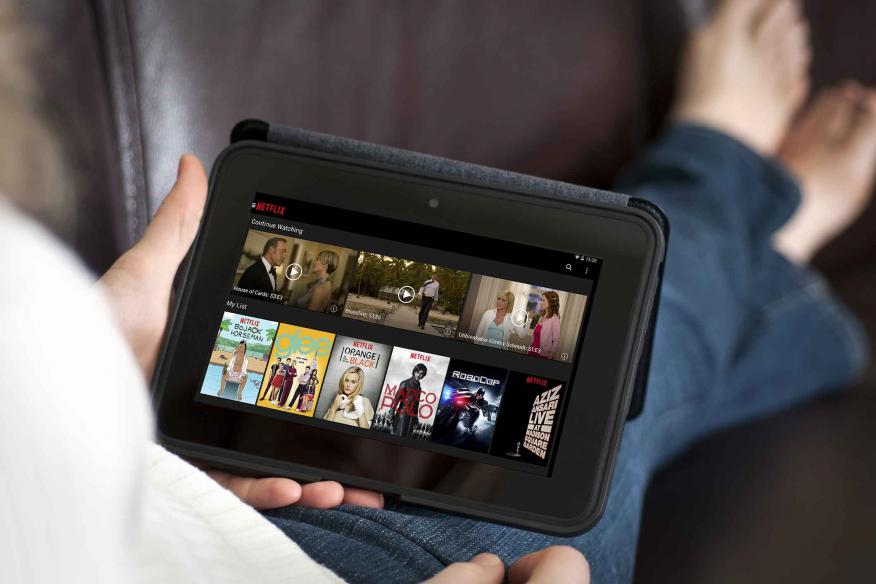 Interfaz de Netflix en tablet