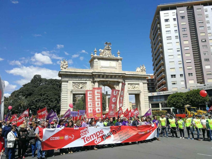 Manifestación del Día del trabajador del 1 de mayo