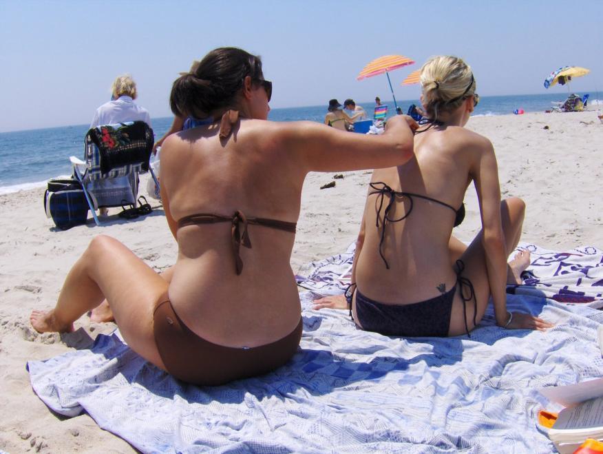protección solar en la playa