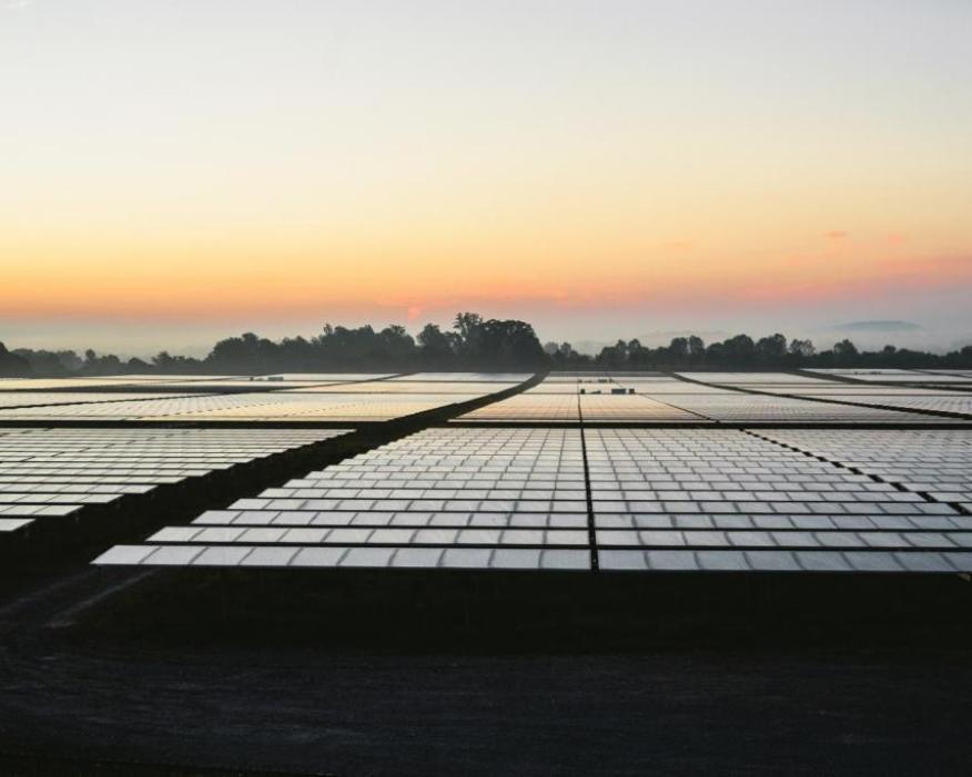 La matriz solar de 14MW de Apple en Maiden.