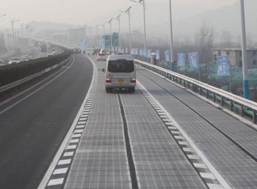 La autopista solar de Jinan, China