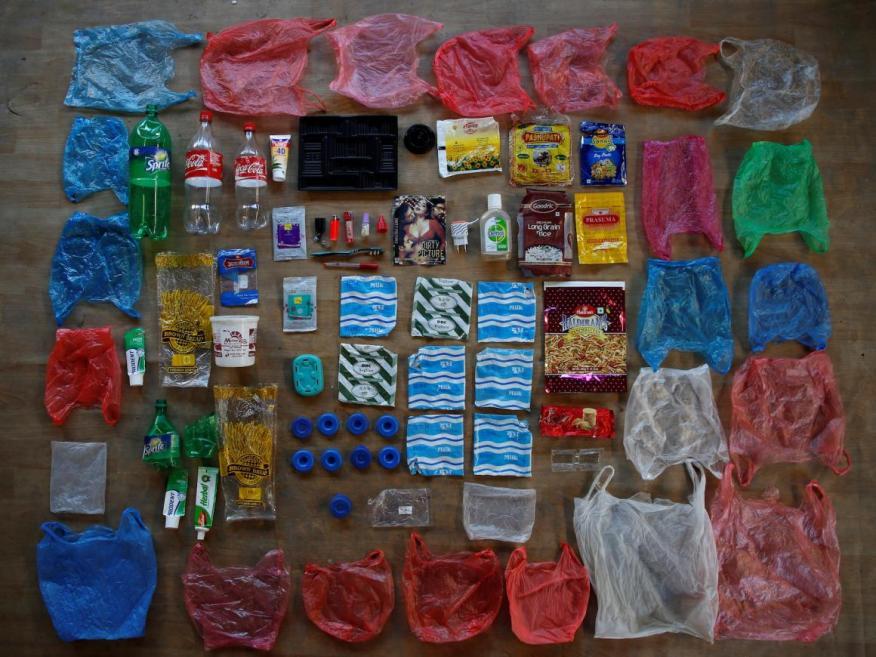 El uso del plástico está fuera de control.