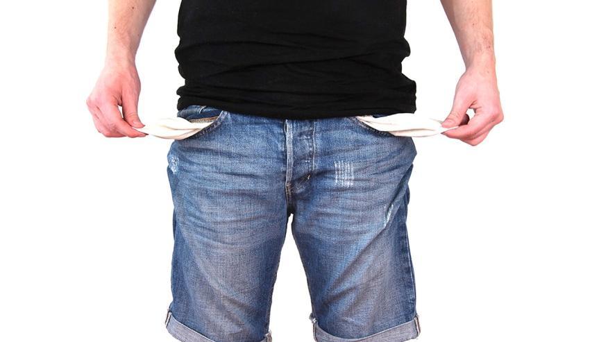 Pobre, sin dinero, agobio