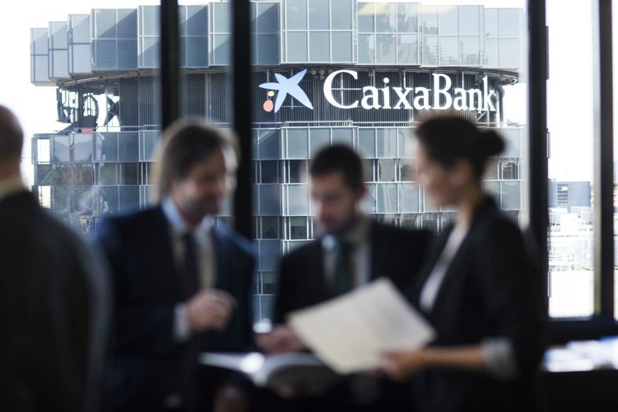 Logo de Caixabank, banca, La Caixa