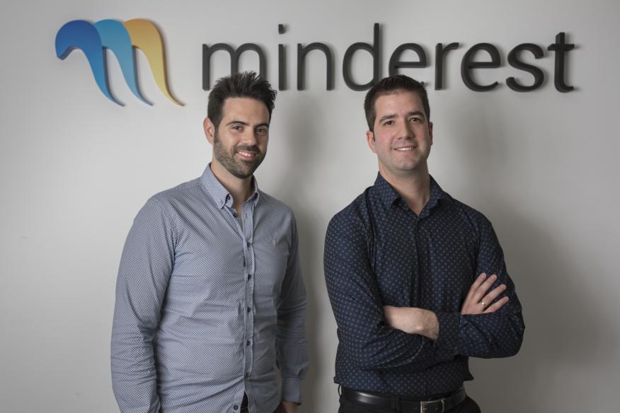 El CEO de Minderest, Antonio Tomás (derecha), y el CTO, Juan Sánchez.
