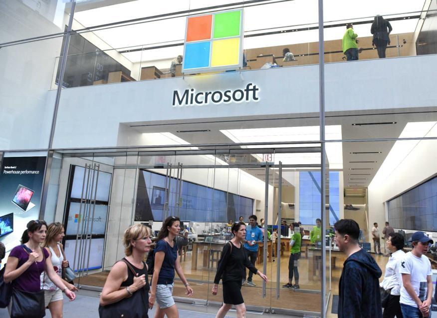 Una tienda de Microsoft.