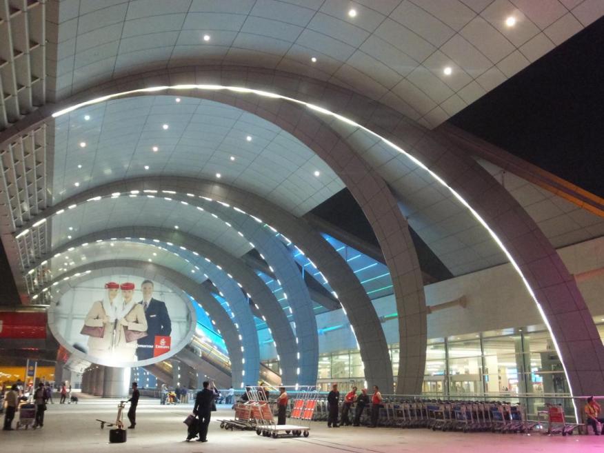 La nueva Terminal 3 (Emiratos) del Aeropuerto Internacional de Dubai, uno de los aeropuertos más concurridos, el 1 de febrero de 2014. Es el edificio más grande del mundo por superficie.