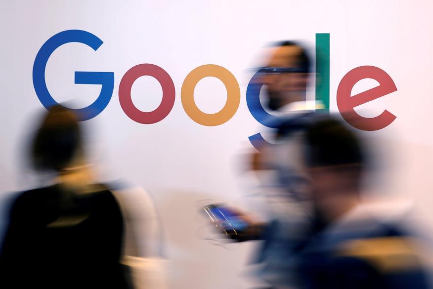 El logo de Google, fotografiado en la cumbre tecnológica Viva Tech en París, Francia, el 25 de mayo de 2018.