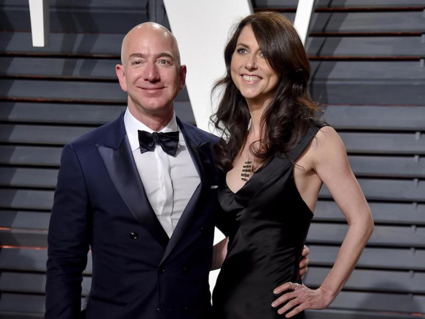 Jeff and MacKenzie Bezos met at work — he was the first person to interview her at the firm.