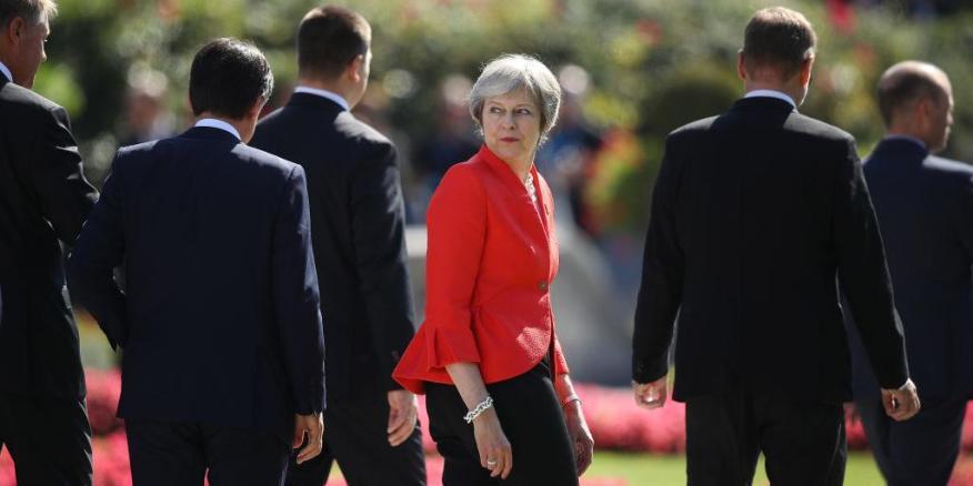 Theresa May en Salzburgo