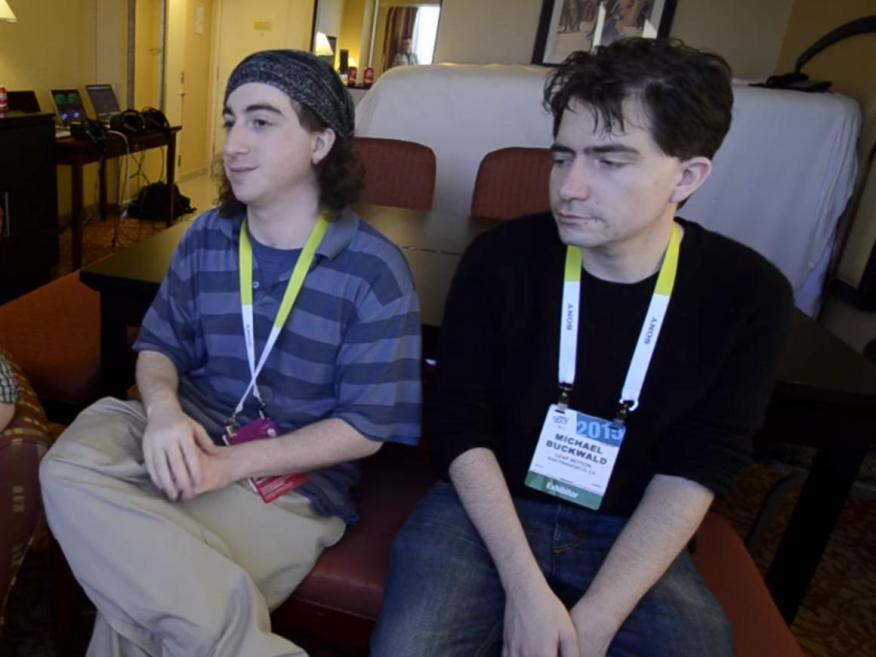 Los cofundadores de Leap Motion, David Holz y Michael Buckwald.