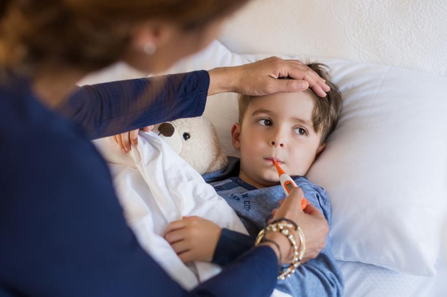 Niño enfermo