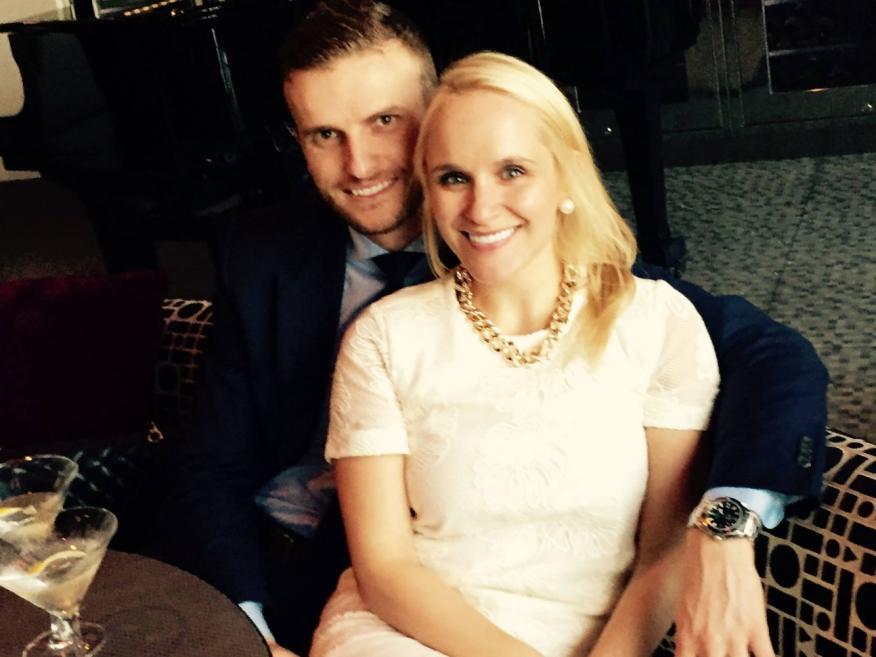 Susie Moore y su marido