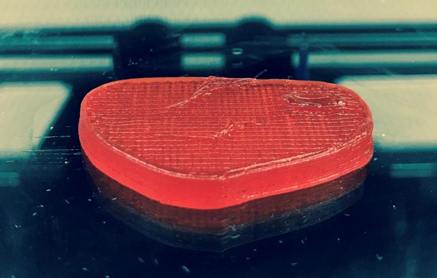 El filete impreso en 3D por Giuseppe Scionti